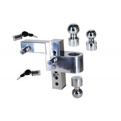 Uriah Aluminum Adjustable Hitch Mount 6 Drop